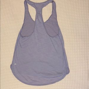 Purple Lululemon razor back tank